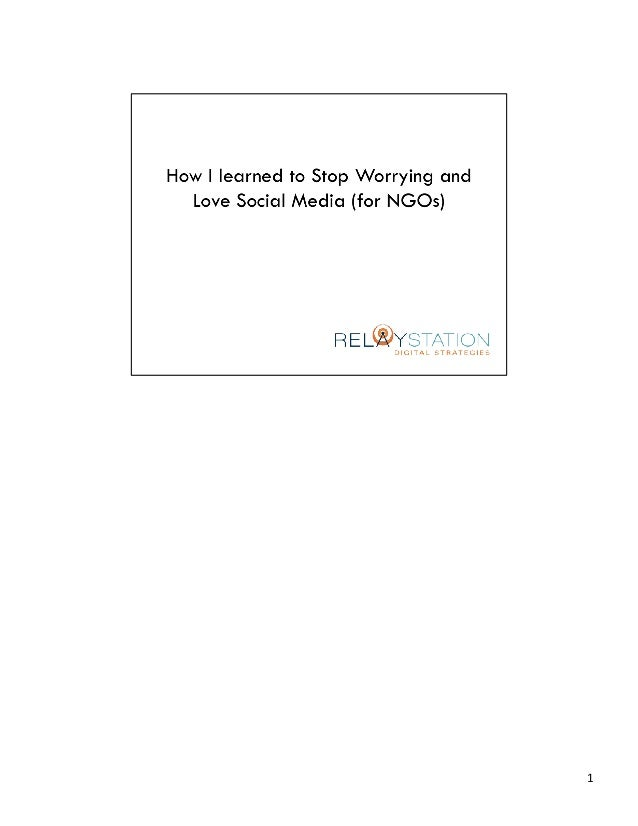 Social Media & NGO's