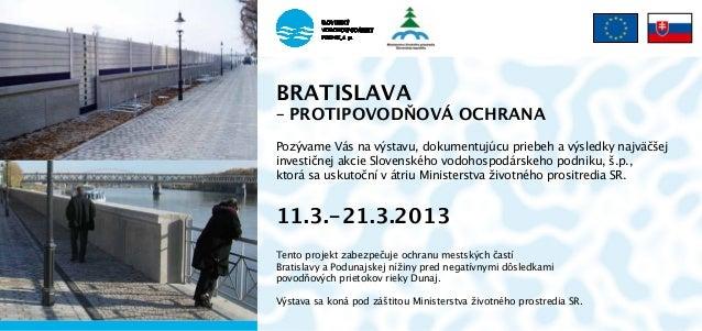 Výstava Bratislava – protipovodňová ochrana