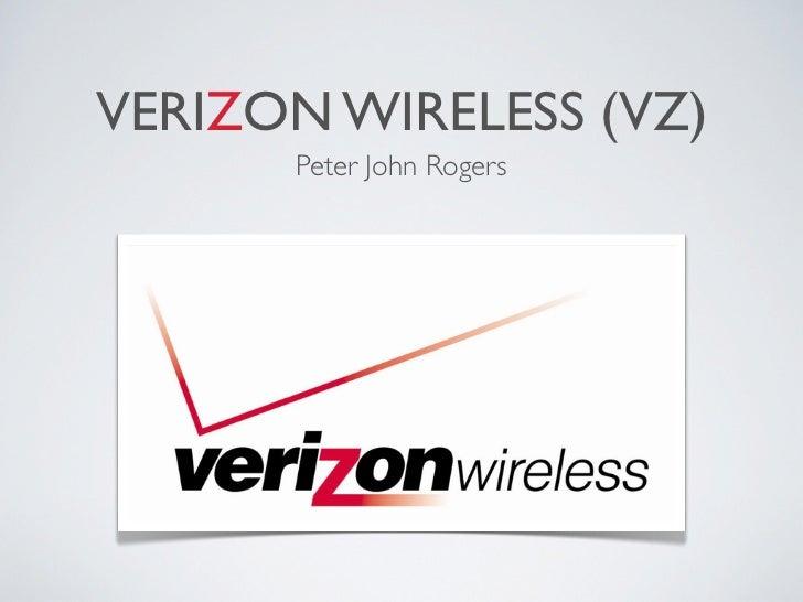 VERIZON WIRELESS (VZ)      Peter John Rogers