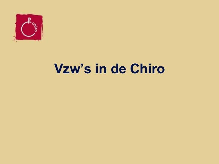 Vzw's in de Chiro