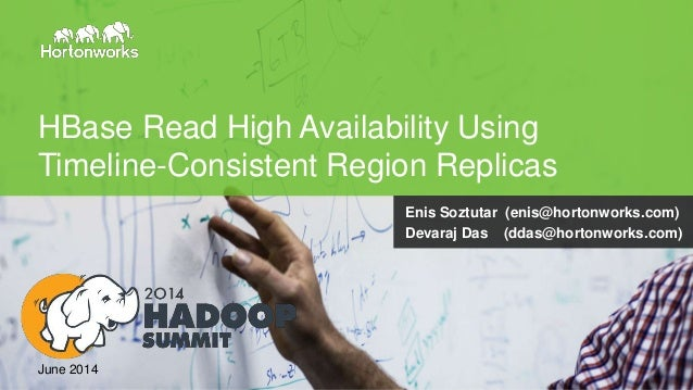 Page1 © Hortonworks Inc. 2011 – 2014. All Rights Reserved HBase Read High Availability Using Timeline-Consistent Region Re...