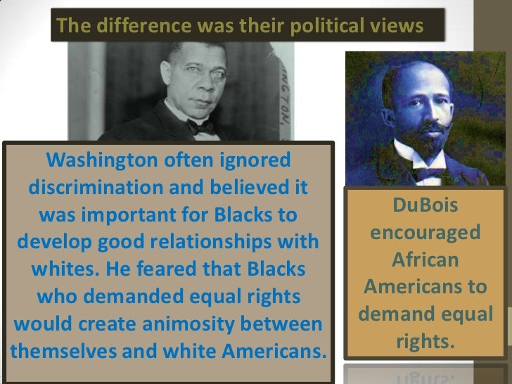a comparison between booker t washington Get an answer for 'can you compare booker t washington and marcus garvey's ideas' and find homework help for other history questions at enotes.