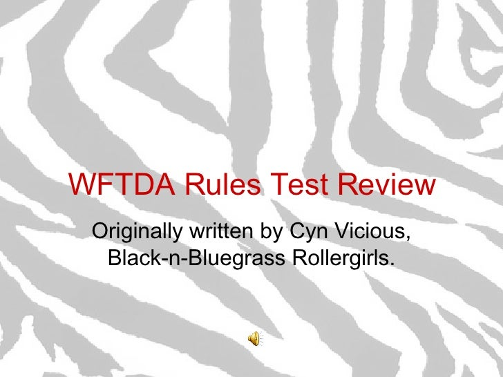 W F T D A  Rules  Test  Review