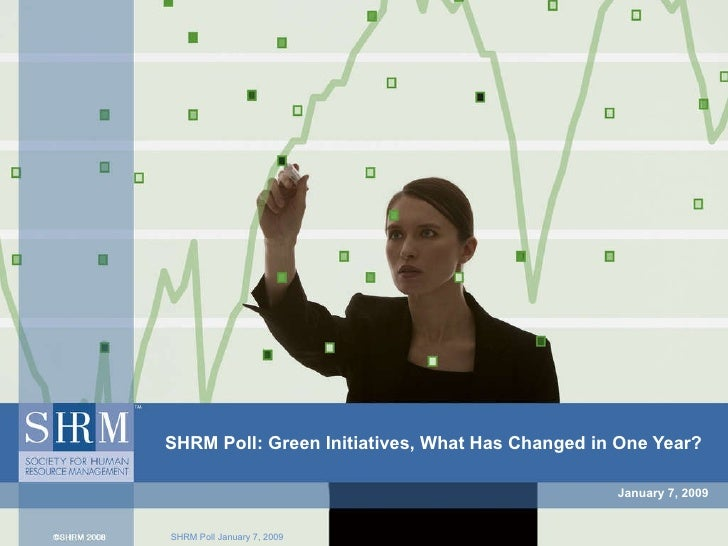 January 7, 2009 SHRM Poll: Green Initiatives, What Has Changed in One Year?