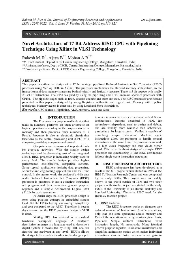 Rakesh M. R et al Int. Journal of Engineering Research and Applications www.ijera.com ISSN : 2248-9622, Vol. 4, Issue 5( V...