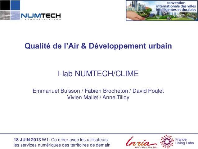 Innovative city convention 2013 - Workshop 1 - Numtech - e-buisson