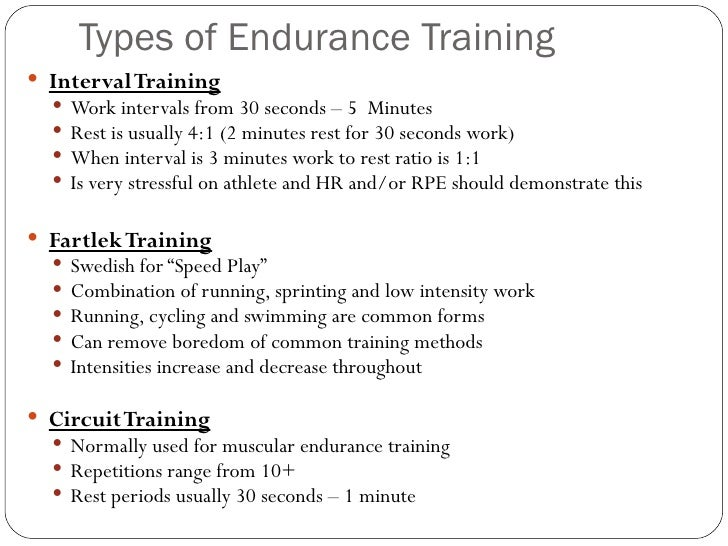endurance training essay Recovery in training: the essential ingredient jonathan n mike, ms and len kravitz, phd for the following training protocols muscular endurance training:.