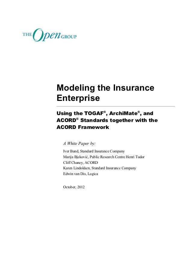 Modeling the Insurance Enterprise