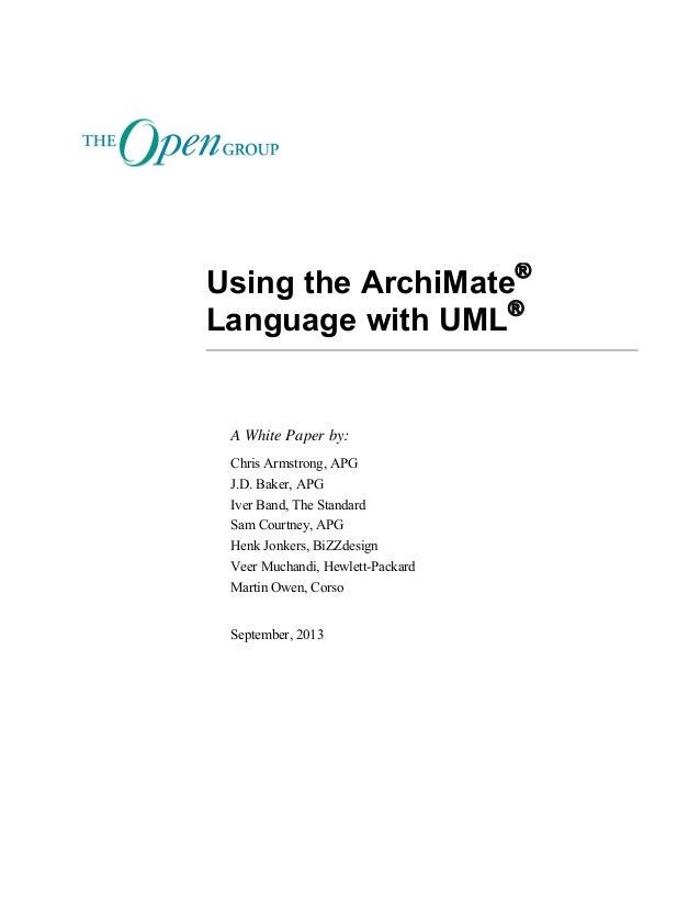 Using the ArchiMate Language with UML