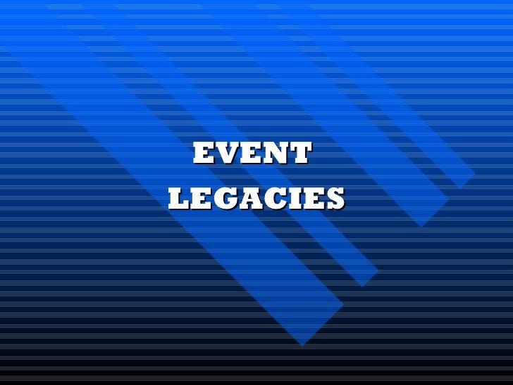 W13 legacies