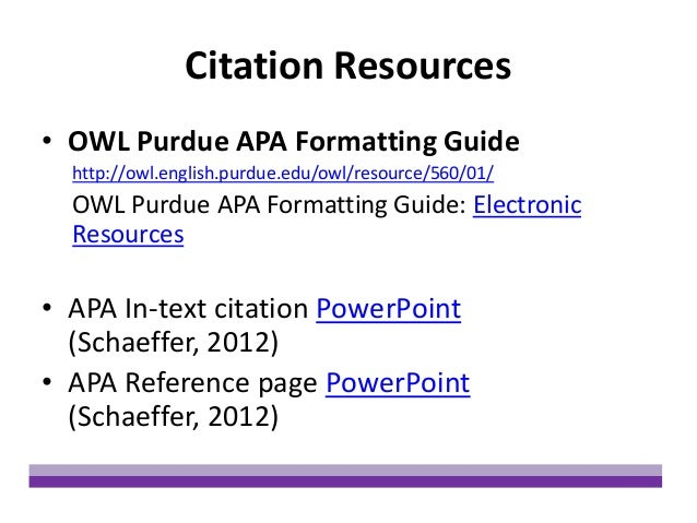 Apa owl reference page