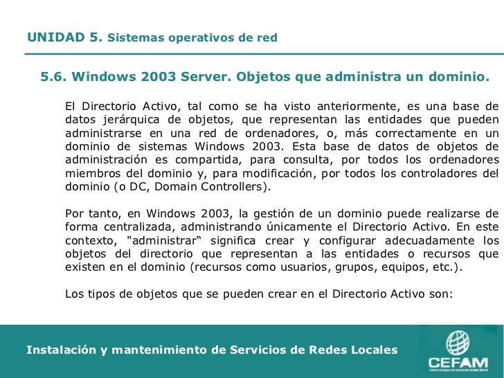 Usuarios y Grupos en Windows 2003 Server
