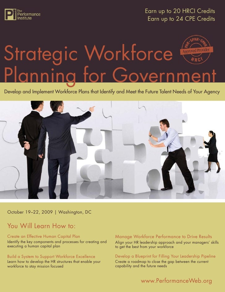 Strategic Workforce Planning for Government 20 HRCI Credits                                                               ...
