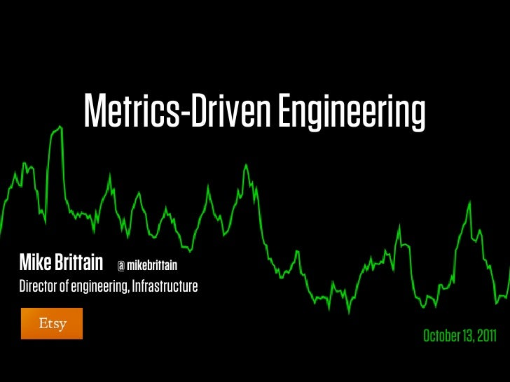 Metrics-Driven EngineeringMike Brittain        @ mikebrittainDirector of engineering, Infrastructure                      ...