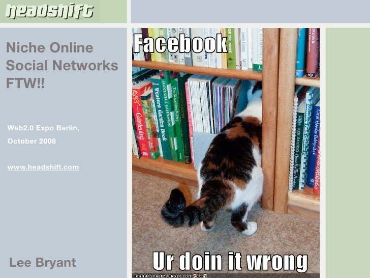 Niche Social Networks FTW!