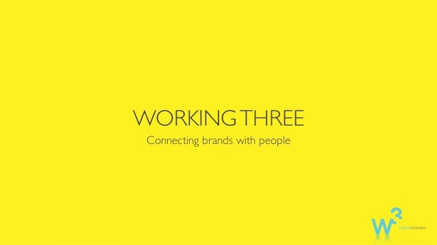 WORKINGTHREE Connecting brands with people