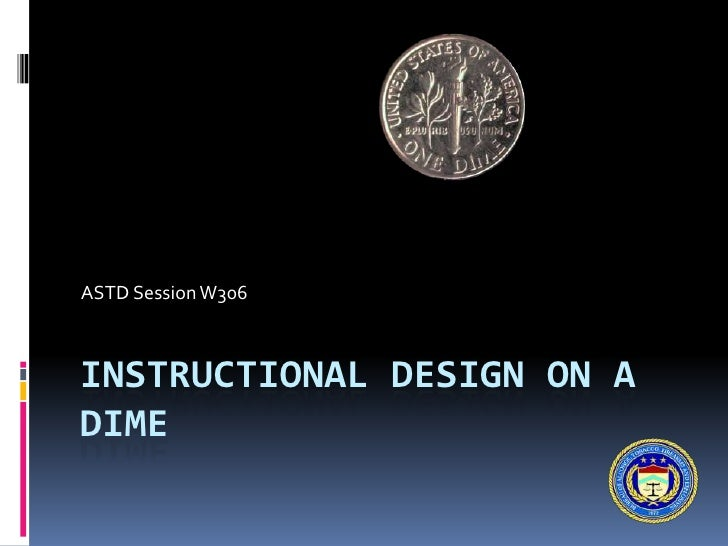 Instructional design on a dime for Decor on a dime
