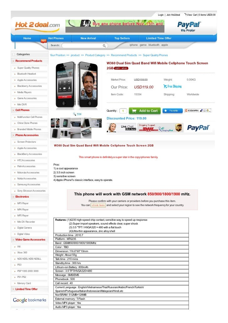 Login   Join Hot2deal   View Cart   0 items USD0.00            Home                  Hot Phones                 New Arriva...