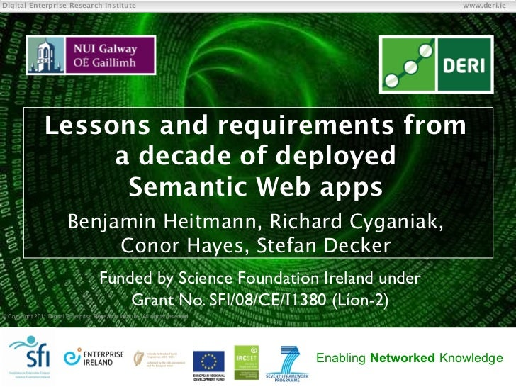 Lessons and requirements from a decade of deployed Semantic Web apps