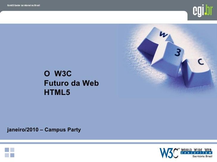 O HTML 5 e o futuro da web