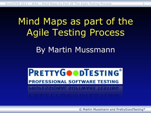 © Martin Mussmann and PrettyGoodTesting®By Martin MussmannMind Maps as part of theAgile Testing Process1EuroSTAR 2011 : W4...