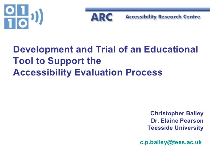 Christopher Bailey Dr. Elaine Pearson Teesside University [email_address]   Development and Trial of an Educational Tool t...