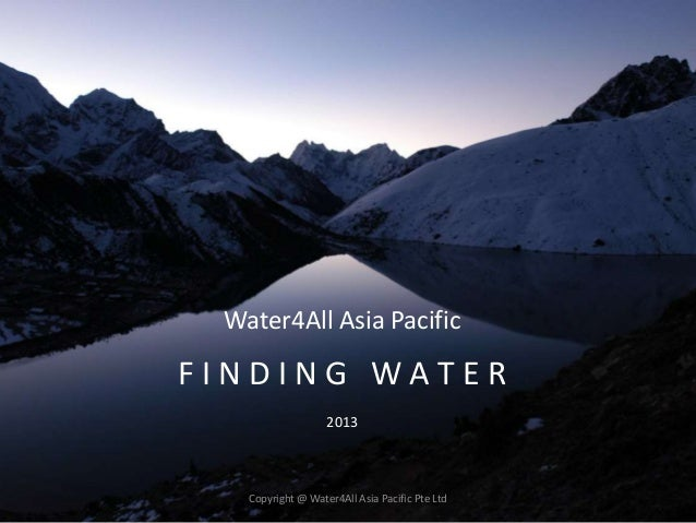Water finding by water4all asia pacific singapore - The net a porter group asia pacific limited ...