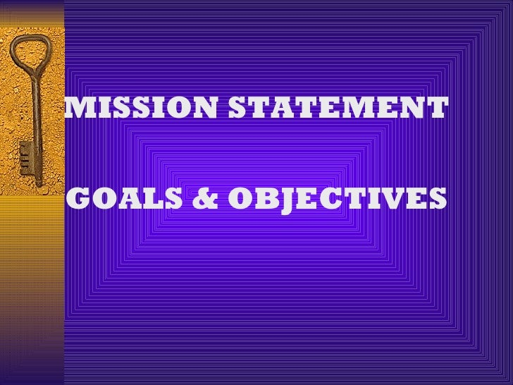 W5 goals and objectives