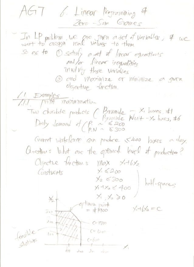 Week 6: Algorithmic Game Theory Notes