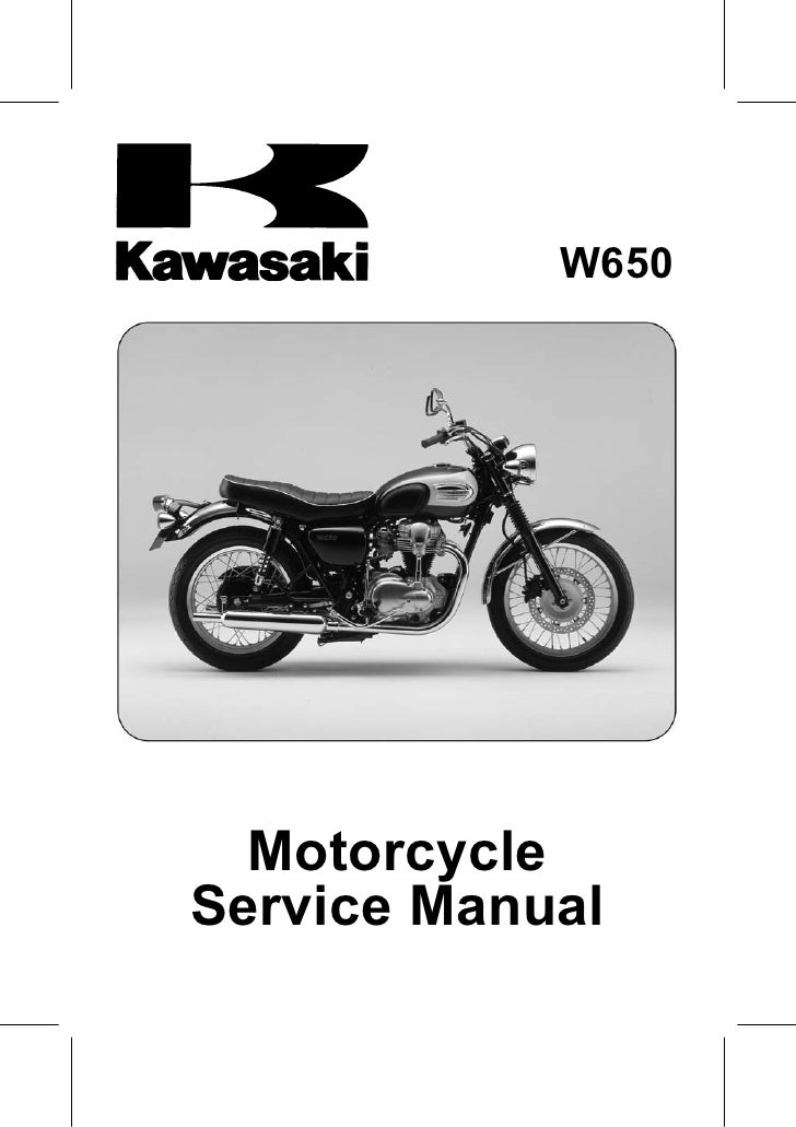 W650       Motorcycle Service Manual