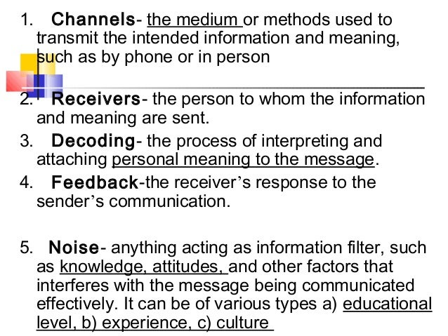 the element of communication which involves the encoding and decoding of messages Elements of communication communication is one of the most the first step the sender is faced with involves the encoding decoding: decoding is the.