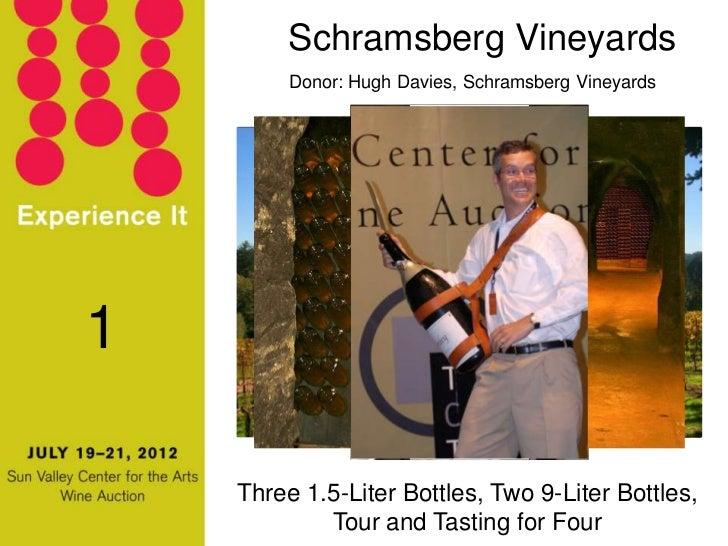 Schramsberg Vineyards         Donor: Hugh Davies, Schramsberg Vineyards1    Three 1.5-Liter Bottles, Two 9-Liter Bottles, ...