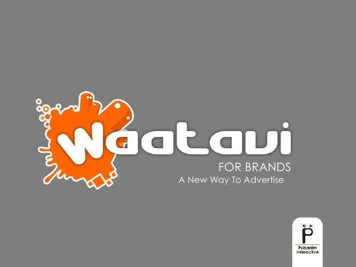 FOR BRANDS<br />A New Way To Advertise...<br />