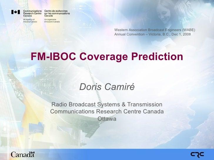 FM IBOC Coverage Prediction