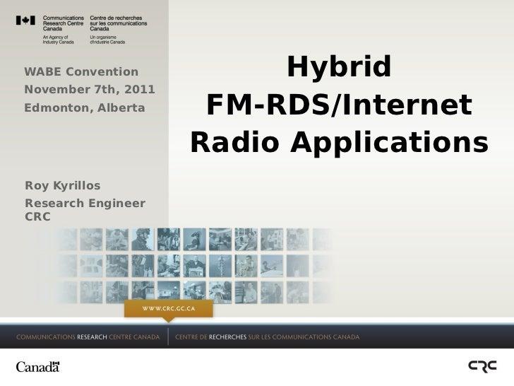 Hybrid FM-RDS/Internet Radio Applications
