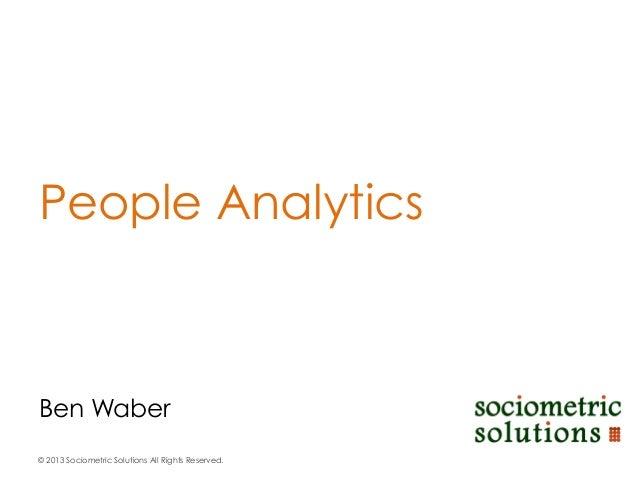 Ben Waber People Analytics
