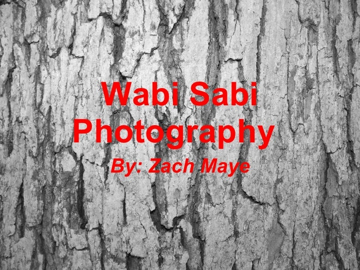 Wabi Sabi Photography By: Zach Maye