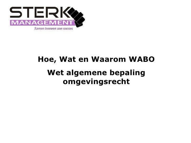 Wabo presentatie 1