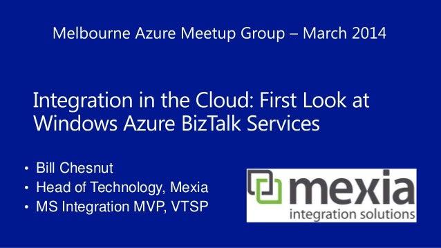 Windows Azure BizTalk Services Deep Dive