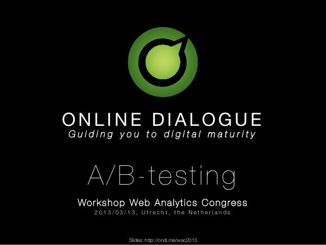 Web Analytics Congress 2013 a/b-test workshop