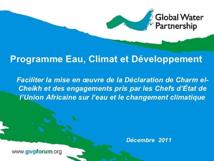 Programme Eau, Climat et Développement (WACDEP)