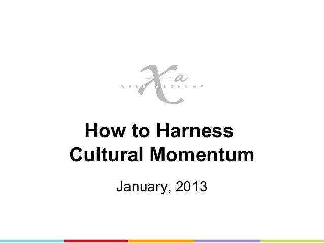How to HarnessCultural Momentum    January, 2013