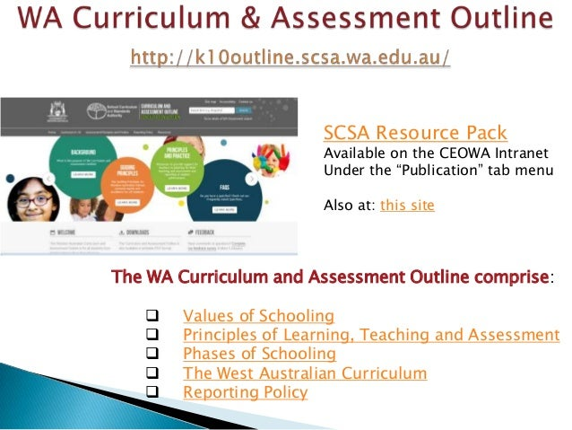 Assessment Outline And Assessment Outline