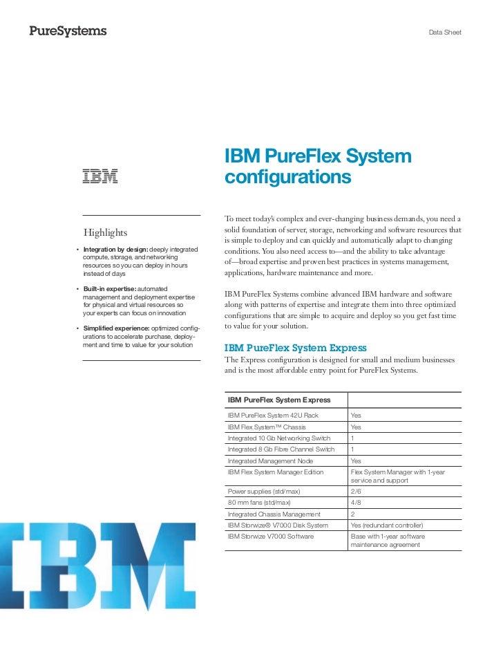 Data Sheet                                                    IBM PureFlex System                                         ...