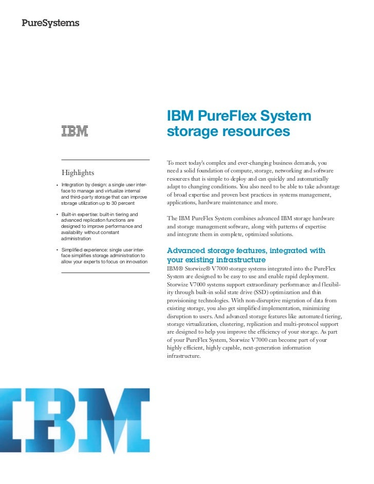 IBM PureFlex System storage resources