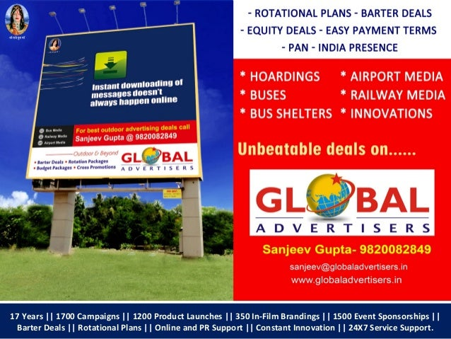 Global Advertisers executes high impact outdoor campaign for Wadhwa