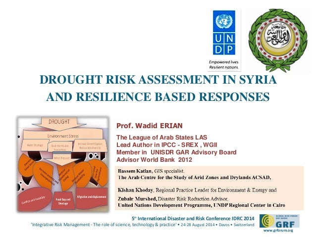 Wadid Erian 25 Aug  5 00 _ Syria-Drought Risk & Resilience_ IDRC14