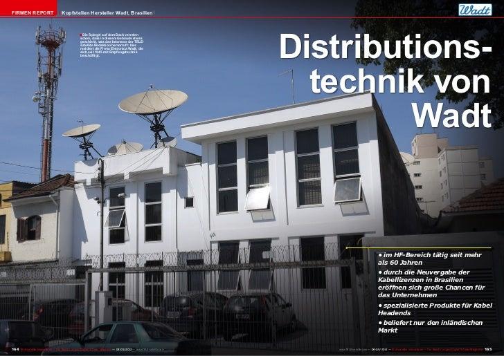 FIRMEN REPORT                         Kopfstellen Hersteller Wadt, Brasilien                                              ...