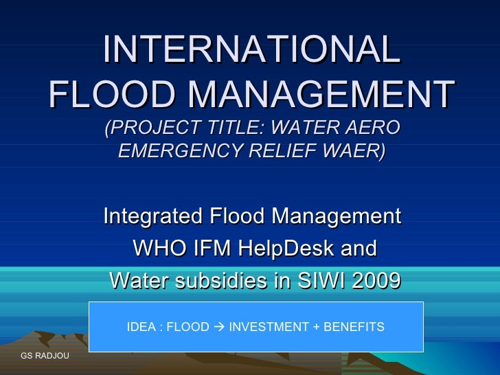 Waer through the lens of the ifm help desk and the investment