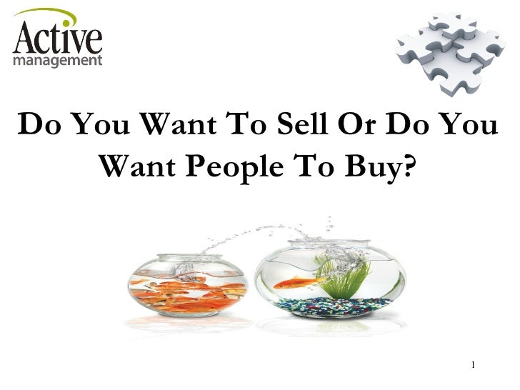 2011 WAFIC Do you want to sell or people to buy?